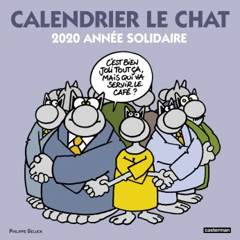 Calendrier Chat 2020.Casterman Calendrier Le Chat 2020